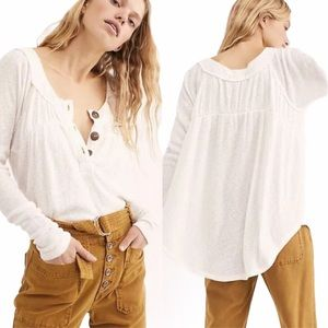 Free People Must Have Button Thermal Henley